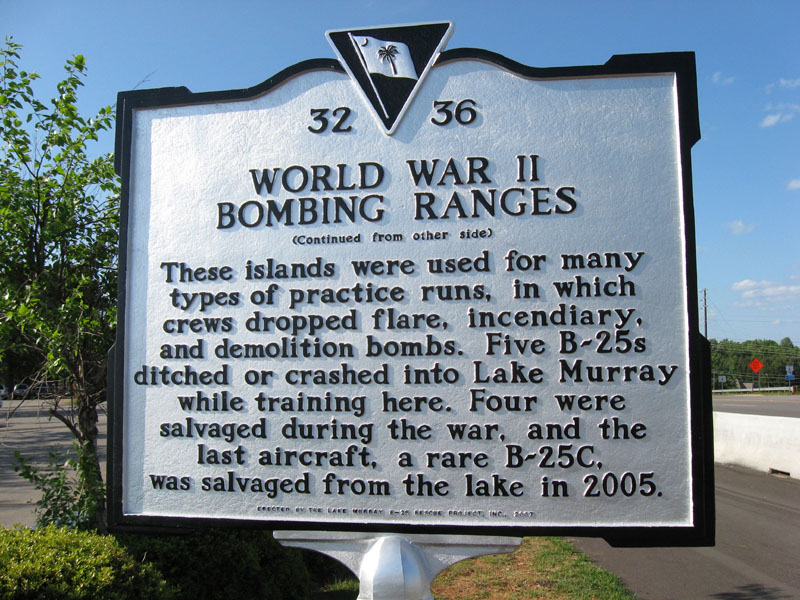 Lake Murray historical marker