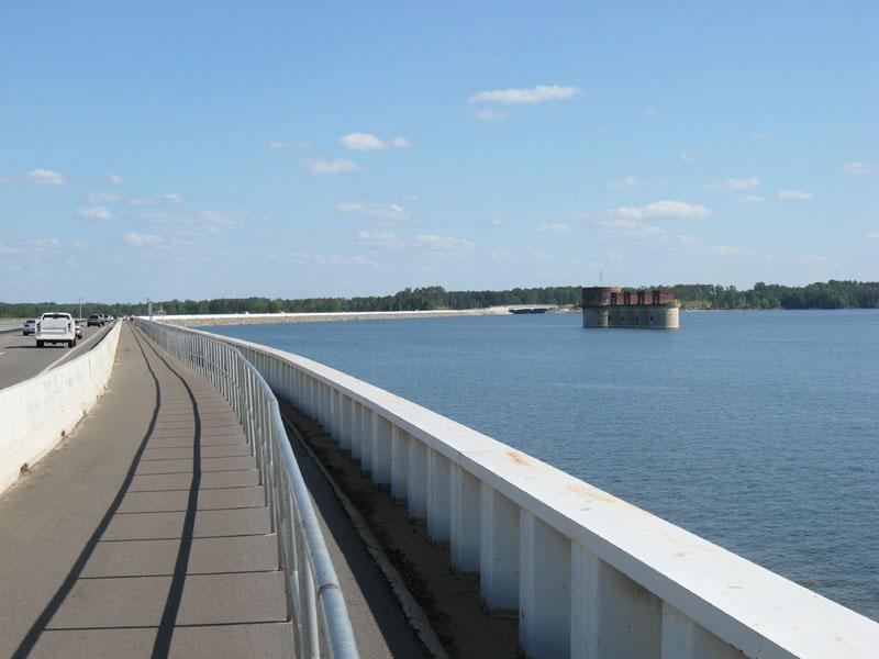 Walk Across The Dam At Lake Murray