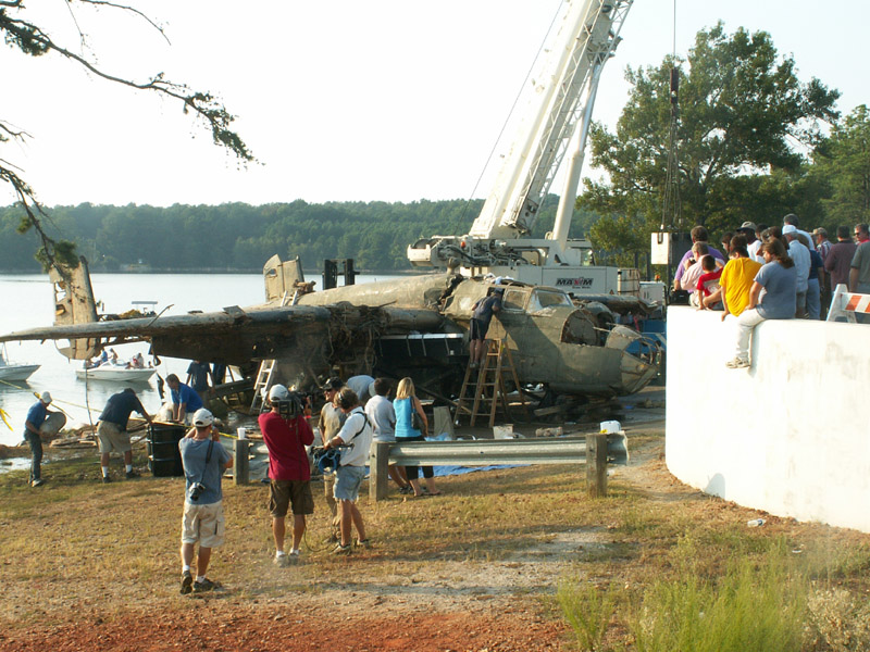 Lake Murray B-25 Lifted from Lake Murray