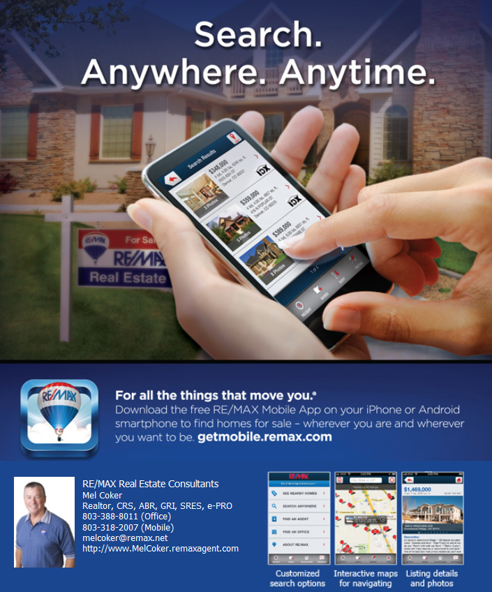 mobile app for Columbia SC real estate